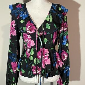 Band of Gypsies Floral black blouse S